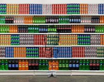 Liu Bolin, Hiding in the City No. 93- Supermarket No. 2