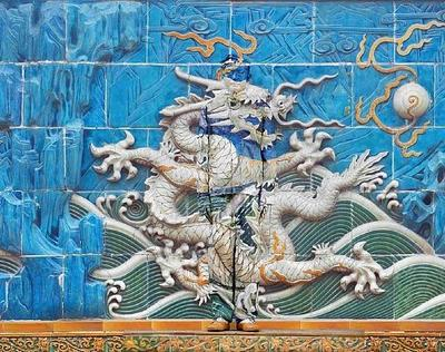 Liu Bolin, Hiding in the City - Dragon Series, No. 3 of 10 panels